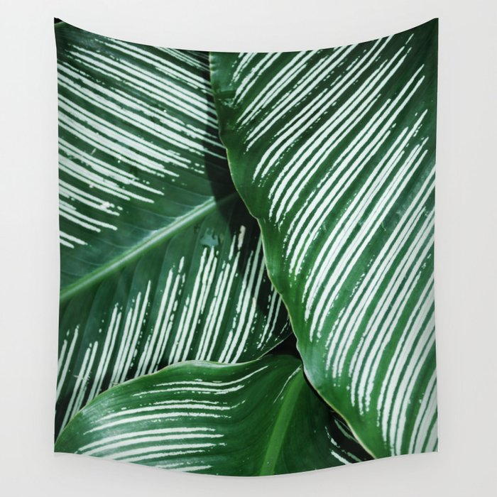 Green Tropical Leaves With White Stripes Closeup Wall Tapestry By Minime Society6 Are you searching for tropical leaves png images or vector? green tropical leaves with white stripes closeup wall tapestry by minime