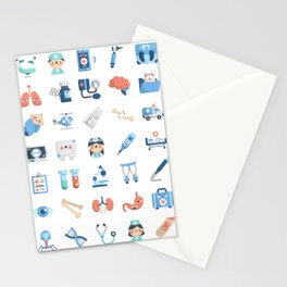CUTE MEDICINE / SCIENCE / DOCTOR PATTERN Stationery Cards