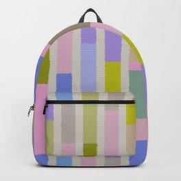 Pastel colored blocks Backpack