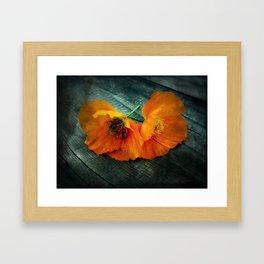 Twin Flowers Framed Art Print