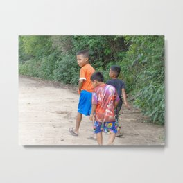 Thai Children Metal Print