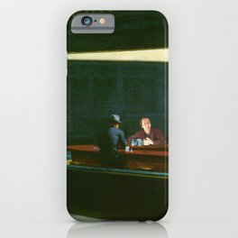 Edward Hopper's Nighthawks and Jack Torrance iPhone Case