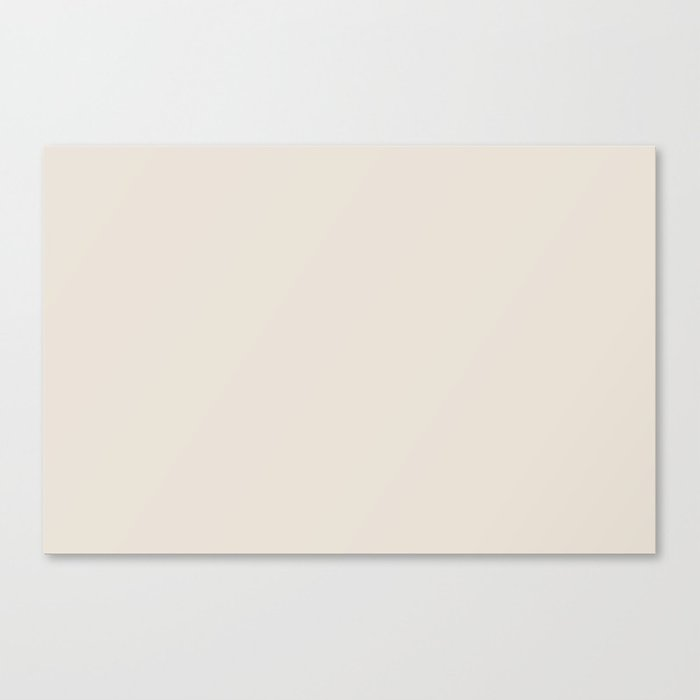 Best Seller Sherwin Williams Colors of 2019 Porcelain (Off White Cream Ivory) SW 0053 Solid Color Leinwanddruck