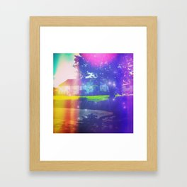 English Village Magic Framed Art Print