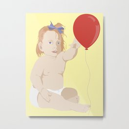 BOW BABY Metal Print