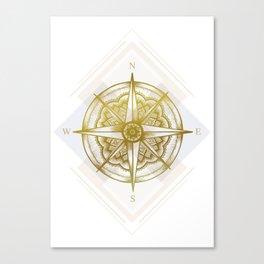 Golden Compass Canvas Print