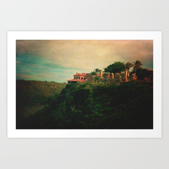 Windy evening in Caribbean  Art Print