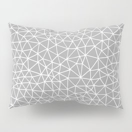 Connectivity - White on Grey Pillow Sham