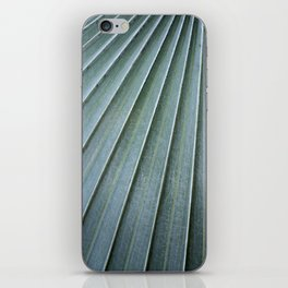 silver palm frond iPhone Skin