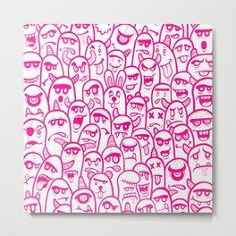 Sea of Faces 02 Metal Print