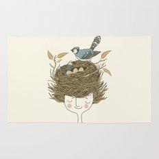 Bird Hair Day Rug