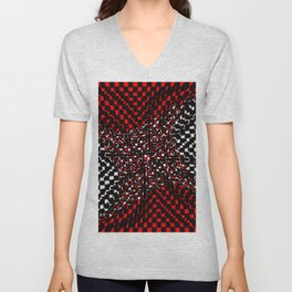 black white red 3 Unisex V-Neck