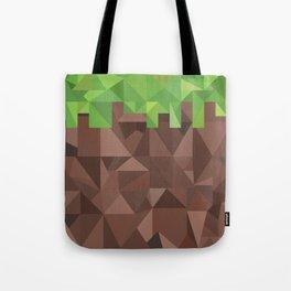 Geometric Dirt Block Tote Bag