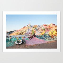 Salvation Mountain, Niland, CA Art Print
