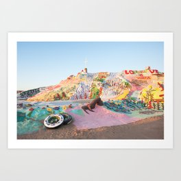 Salvation Mountain, Niland, CA Art Print