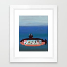 Diving into the Abyss Framed Art Print