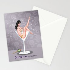 Drink Me Pin-up Stationery Cards