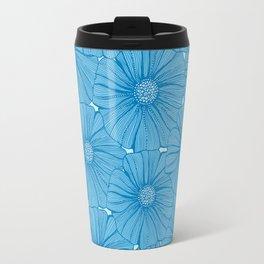 Garden in blue Travel Mug
