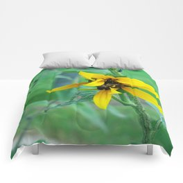 Bumble Bee Flower Comforters