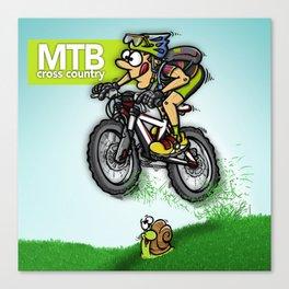 MTB cross country Canvas Print