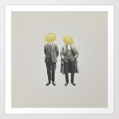 Lemon Mugshot Art Print