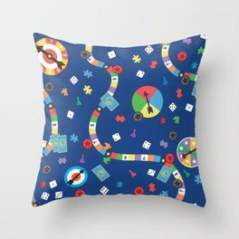 Board Game Pattern Throw Pillow