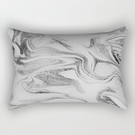 Spilled Ink Marble Rectangular Pillow