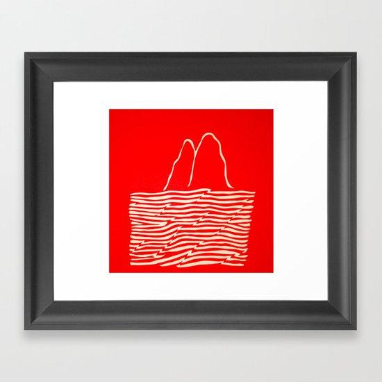 Red Waves Framed Art Print