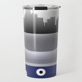 Dallas -DAL - Airport code and Skyline Travel Mug