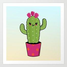 Cactus kawaii Art Print