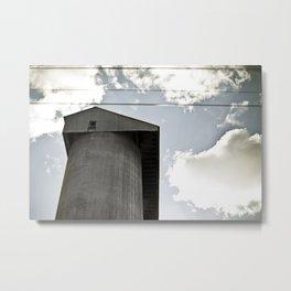 Australian Landscape . Silos Metal Print