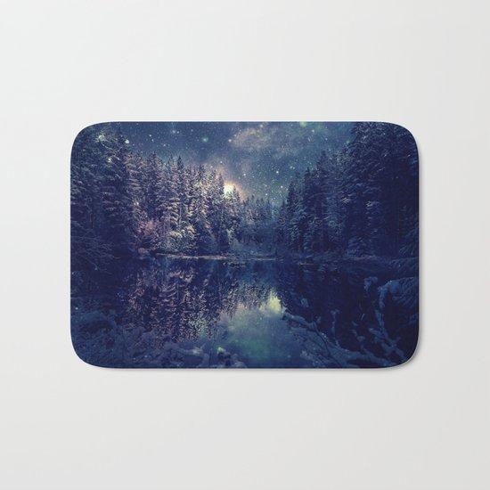 Winter Forest Deep Pastel Bath Mat