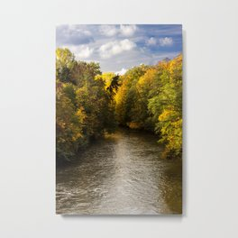 Autumn on the River Metal Print