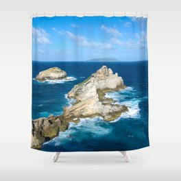 Ends of the world Shower Curtain