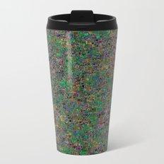 Mini Green and Purple Mini Mosaic Tile Metal Travel Mug