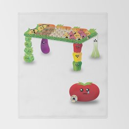 Veggie-Table Throw Blanket
