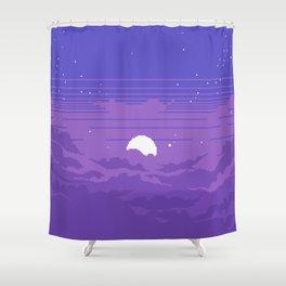 Moonburst V2 Shower Curtain