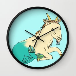 Capricorn with the life in the tail Wall Clock