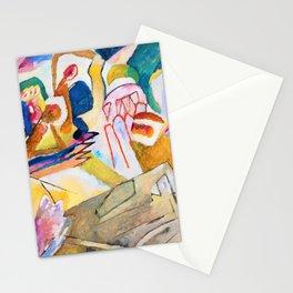 12,000pixel-500dpi - Wassily Kandinsky - Improvisation 18, With Tombstone - Digital Remastered Stationery Cards