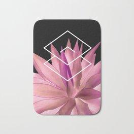 Agave geometrics III - pink Bath Mat