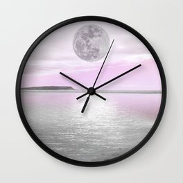 LOVERS BEACH - MOONLIGHT Wall Clock