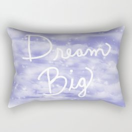 Dream Big Violet Rectangular Pillow