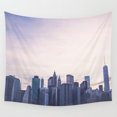 Lower Manhattan Skyline Wall Tapestry