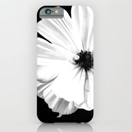 Springtime Aneomone In Black And White iPhone Case