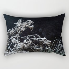 Frozen grass Rectangular Pillow