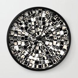 Circular Mosaic Sepias Wall Clock