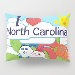 Ernest and Coraline | I love North Carolina Pillow Sham