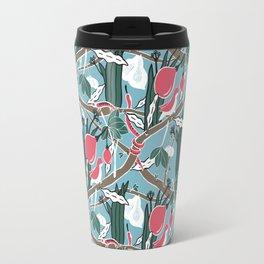 Hiding Birds Pink Travel Mug