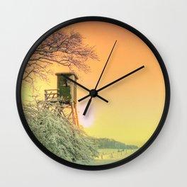 Winter romantic Wall Clock