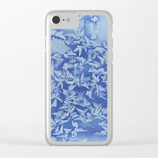 Blue Frozen Freeze Clear iPhone Case